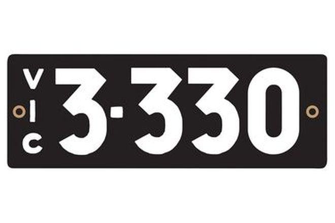 Victorian Heritage Numerical Number Plates '3.330'