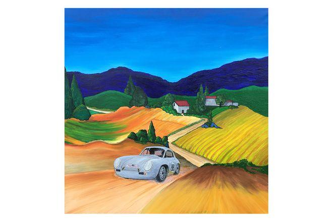 Painting 356 Porsche Monte Carlo Rally