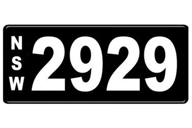 Number Plates - NSW Numerical Number Plates '2929'