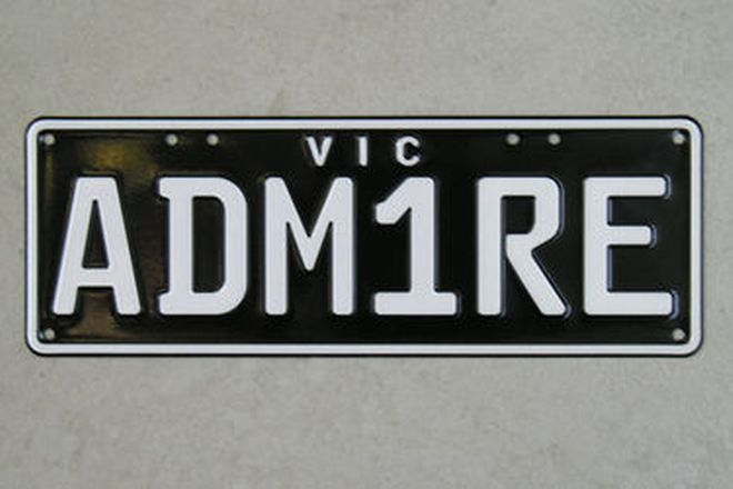Victorian Number Plates - ADM1RE