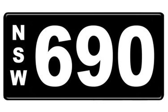 NSW Numerical Number Plates '690'