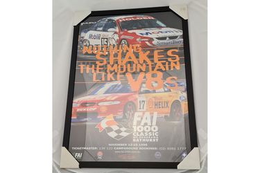 'Nothing Shakes The Mountain Like V8s' Framed Poster (645W x 888H)