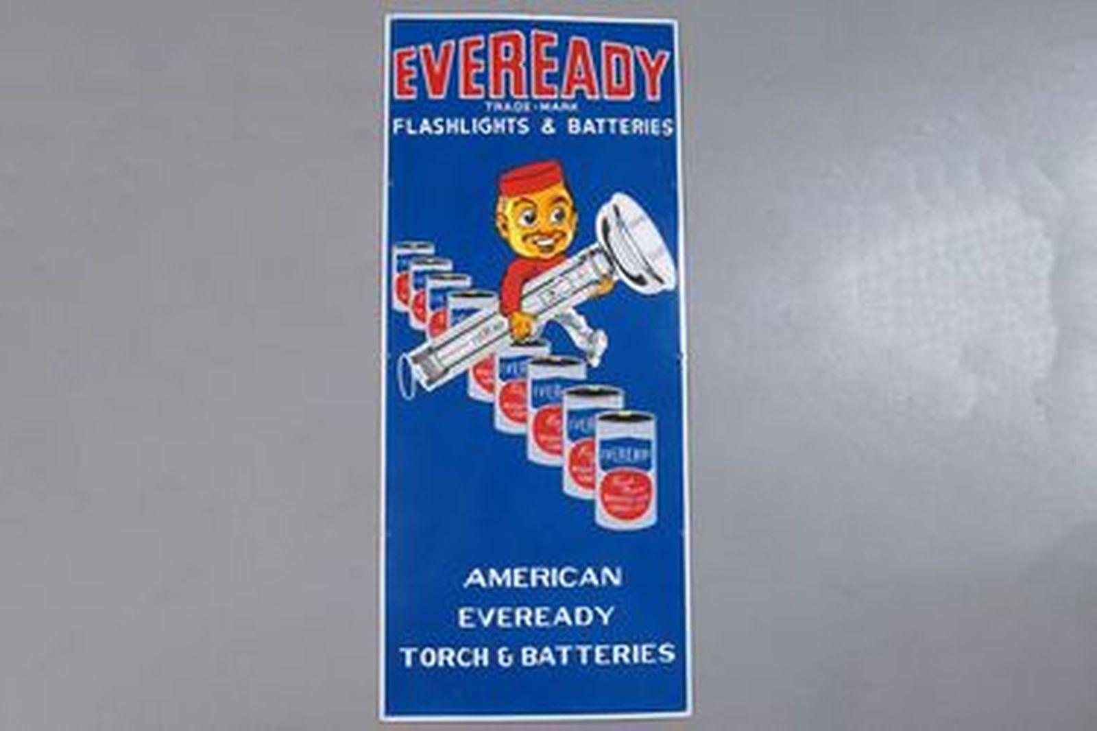 Enamel Sign - Eveready Batteries Sign (108 x 46cm)