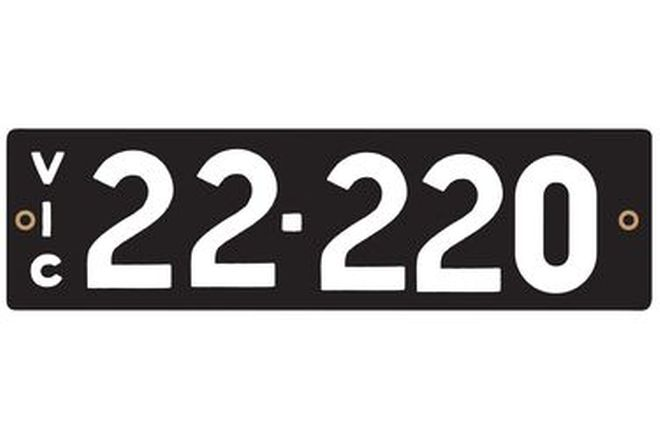 Victorian Numerical Number Plates '22.220'