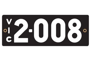 Victorian Heritage Numerical Number Plates - '2.008'