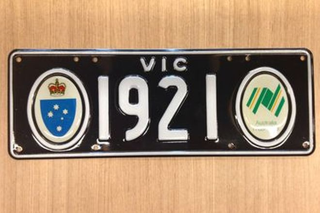 Victorian Bicentenial Number Plates '1921'