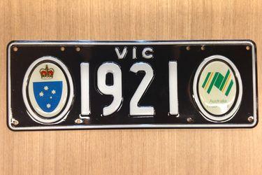 Victorian Bicentenial Number Plates '1921'