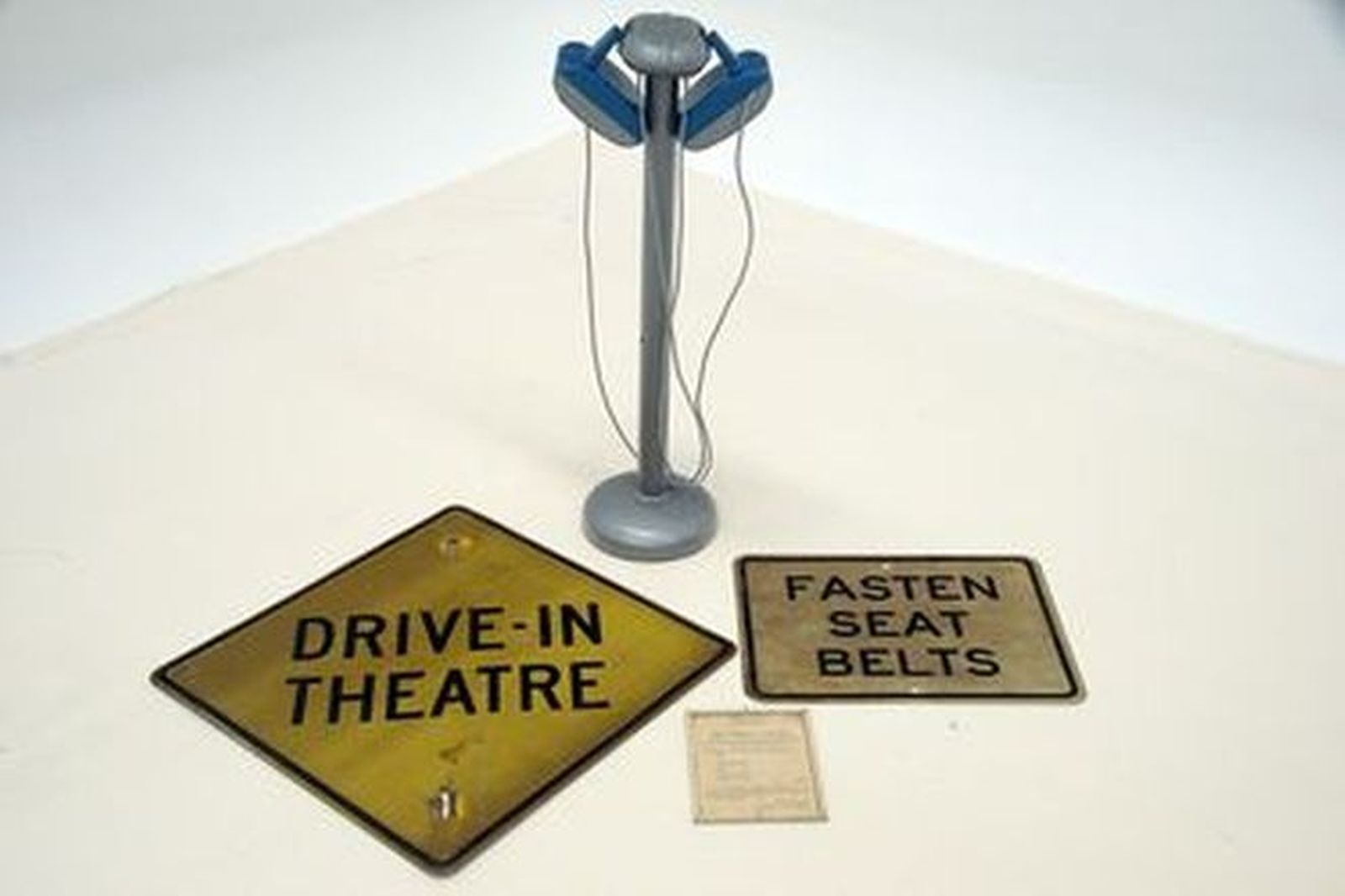 Drive In Collection - Speakers, Sign & Fasten Seat Belt Sign, Certificate from Ballarat Drive-In