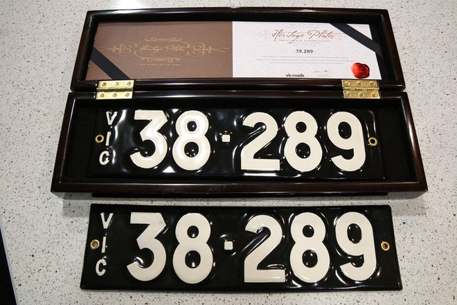 Number Plates - Victorian Numerical Number Plates '38.289'