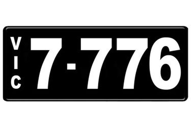 Number Plates - Victorian Numerical Number Plates - 7.776