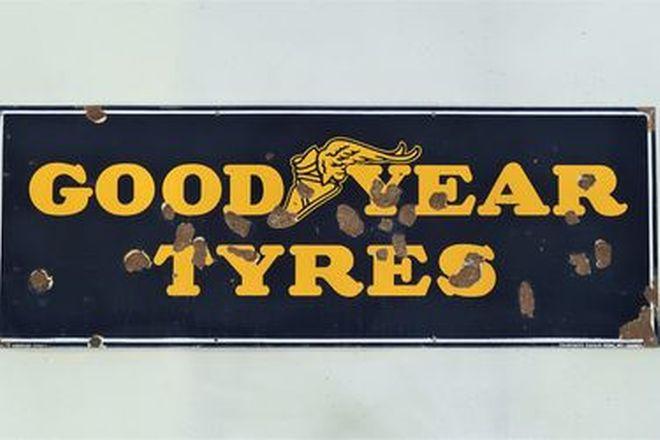 Enamel Sign - Goodyear Tyres (170cm x 60cm)