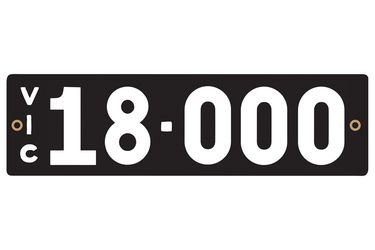 Victorian Heritage Numerical Number Plates - '18.000'