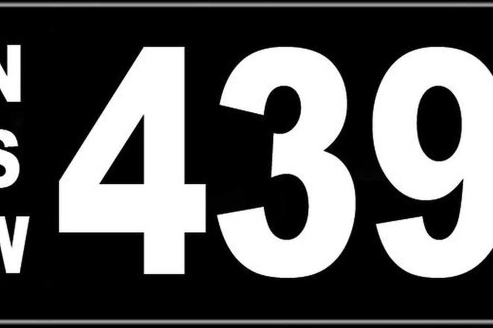 Number Plates - NSW Numerical Number Plates '439'