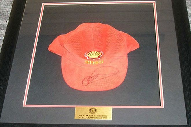 Framed Cap - Mick Doohan Shell 1999 Australian GP - Retirement Year