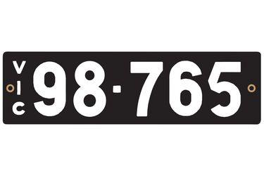Victorian Heritage Number Plates '98.765'
