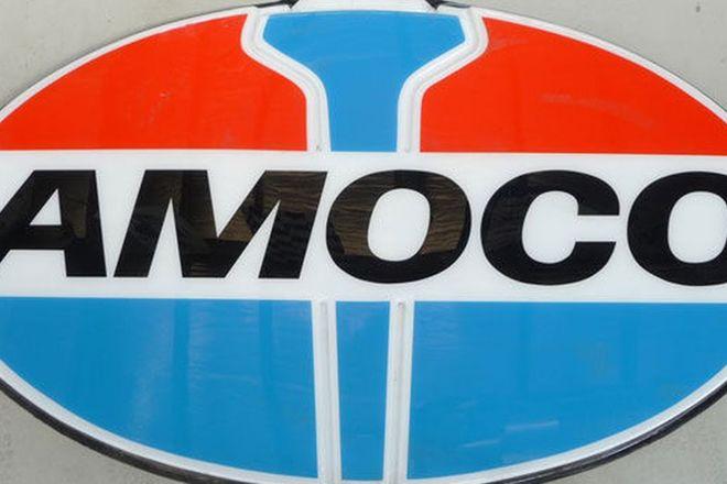 Sign -  Amoco Roadhouse large plastic sign (250cm w x 160cm h)