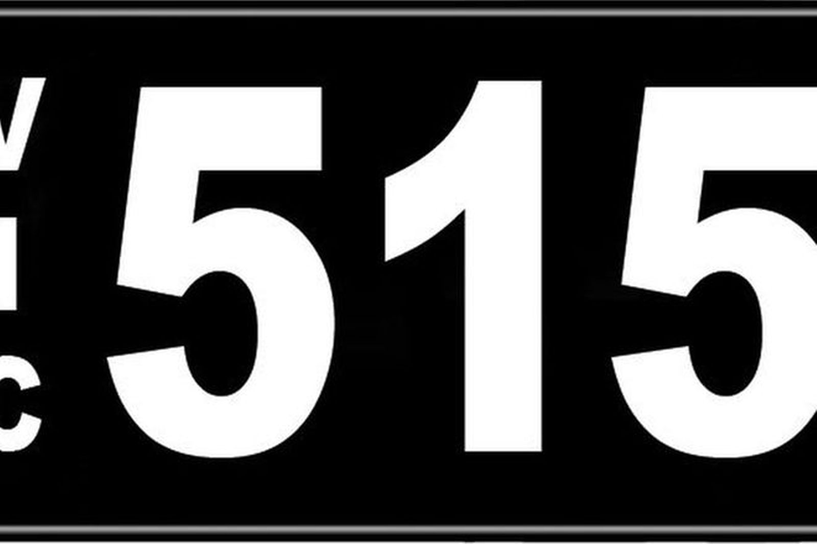 Number Plates - Victorian Numerical Number Plates - 515