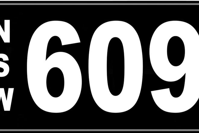 Number Plates - NSW Numerical Number Plates '609'