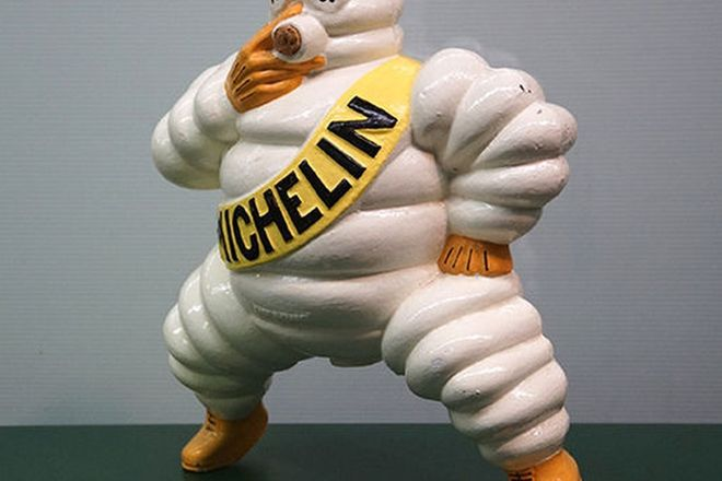 Compressor Top - Cast Steel Michelin Man (35cm tall)