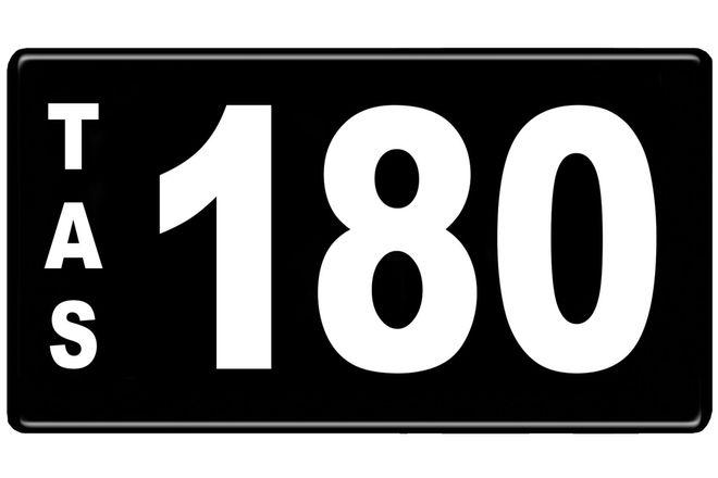 Number Plates - Tasmanian Numerical Number Plates '180'