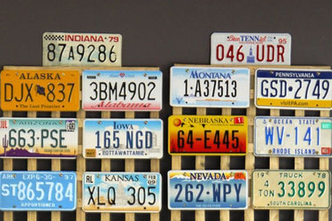 Number Plates - Genuine USA Plates from all states