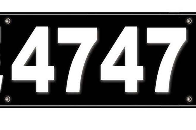 Number Plates - NSW Numerical Number Plates \4747\