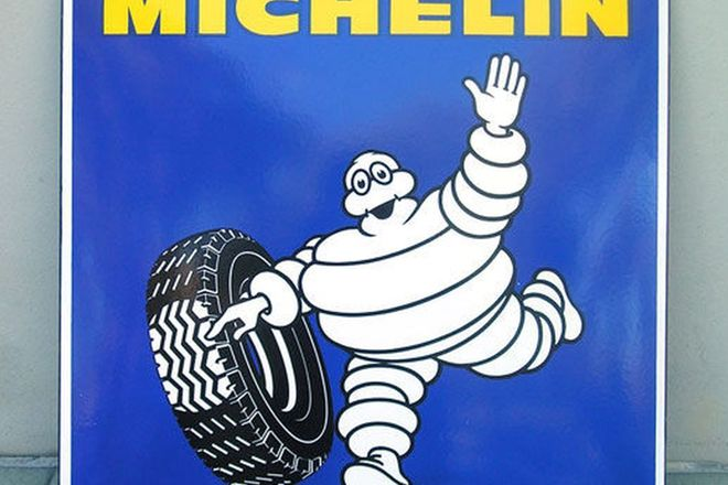 Enamel sign - Michelin (64 x65 cm)