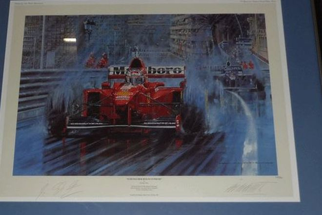 Signed Framed Print -  'Schumacher Reigns Supreme' by Nicholas Watts