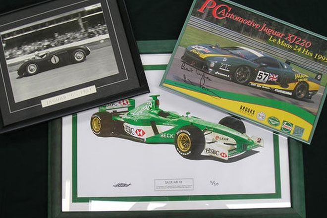 Framed Prints - Jaguar Race Cars x3