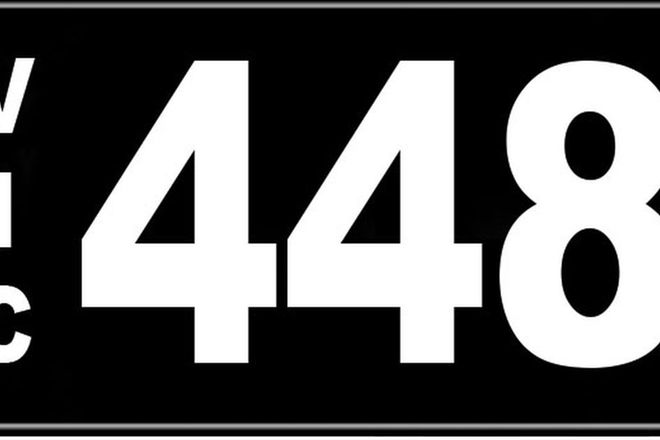Number Plates - Victorian Numerical Number Plates '448'