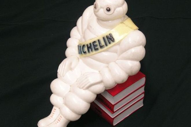 Lamp - Michelin Man Seated on Books