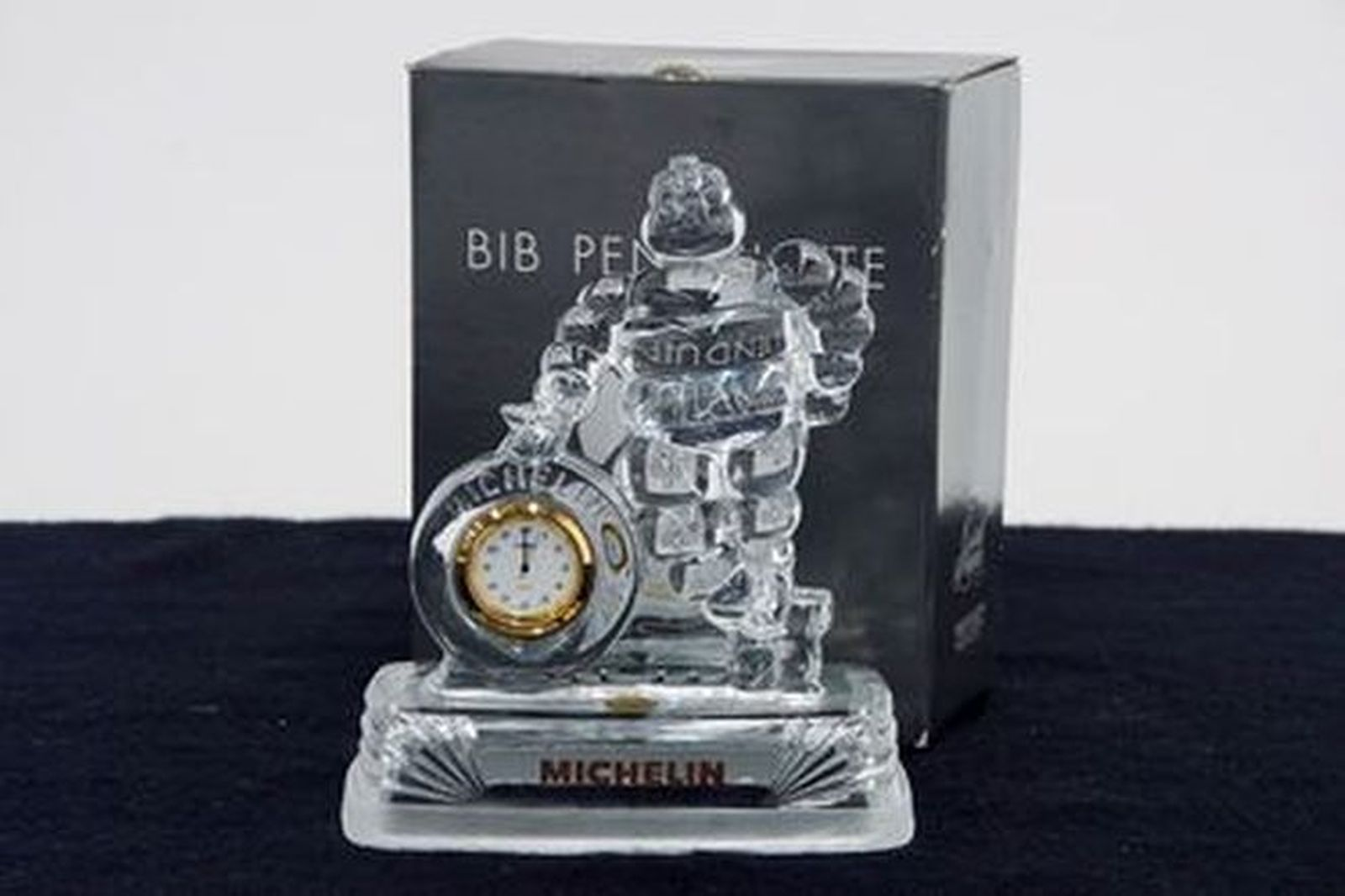 Clock - Michelin Man Crystal D'Argues (18cm tall)