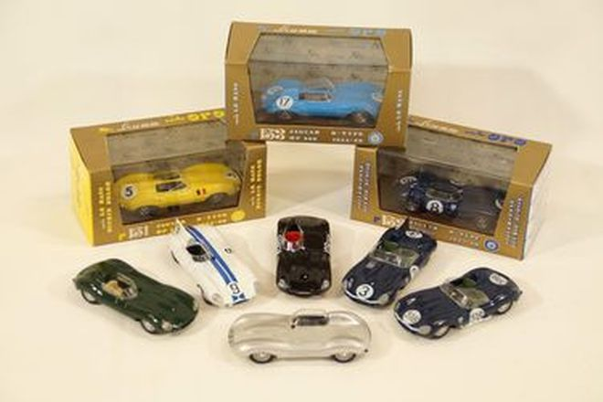 Model Cars x 9 - Brumm various Jaguar D-Types (3 in boxes) 1:43 scale