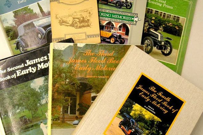 Books - James Flood Books of Early Motoring - 2nd, 3rd & 4th editions plus other James Flood Motorin