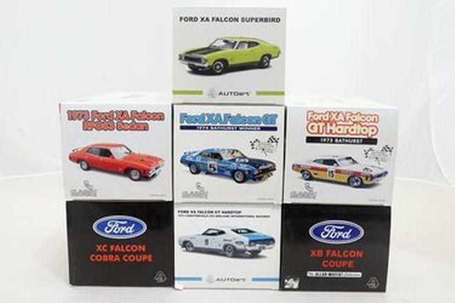 Model Cars -  7 x Assorted Ford Falcon XA, XB, XC - Classic , Auto Art (Scale 1:18)