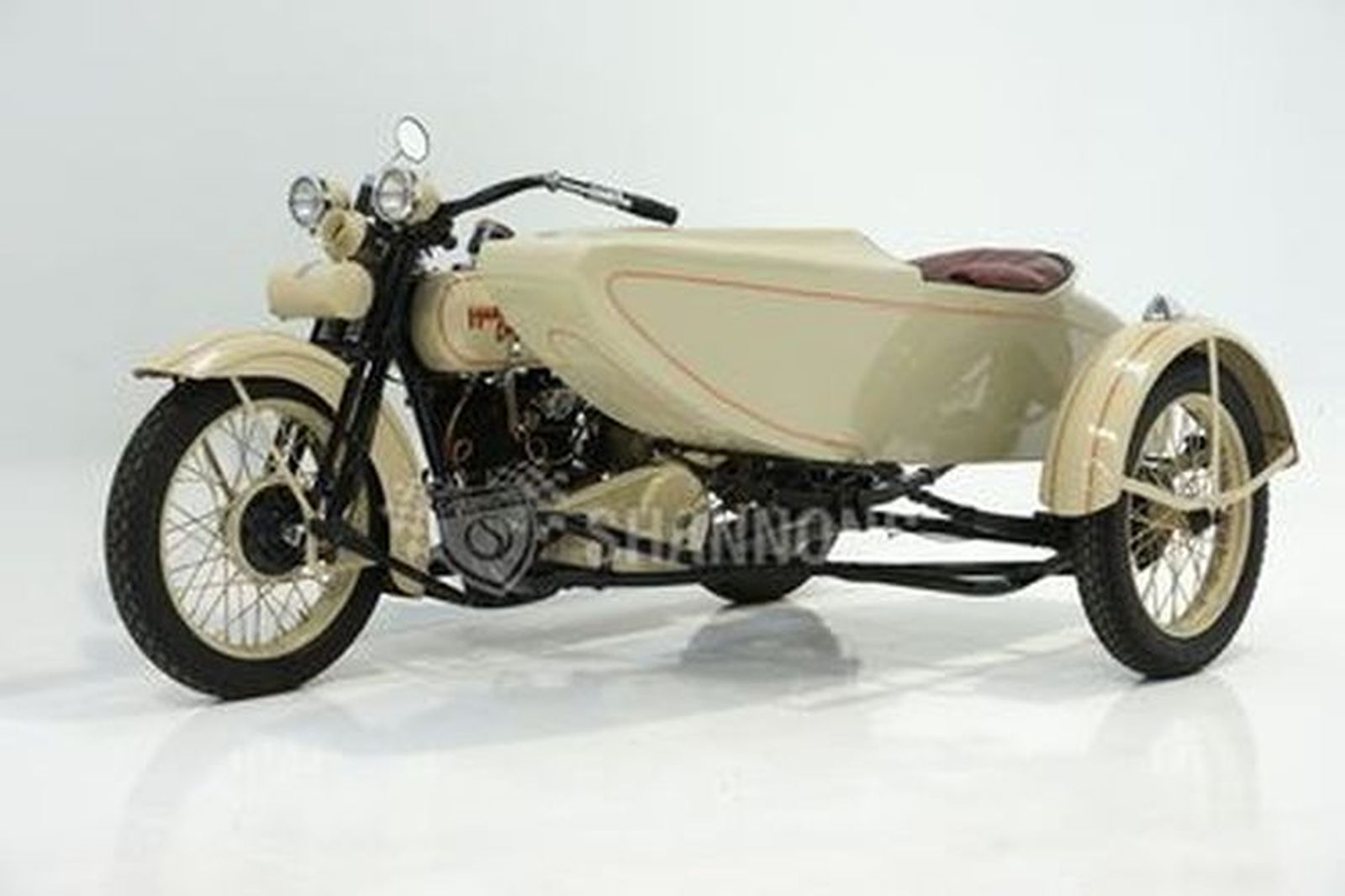 Harley-Davidson 'J Model' 1000cc Motorcycle with Sidecar