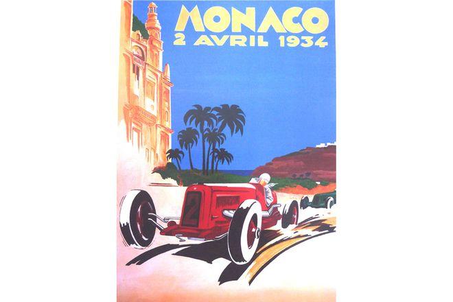 Framed print - Monaco 1934
