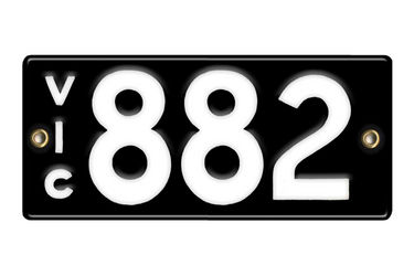 Victorian Number plates '882'