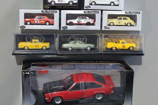 1 x Autoart LX SS A9X optioned Torana (1:18 scale) 8 x Trax collectable cars (1:43 scale)