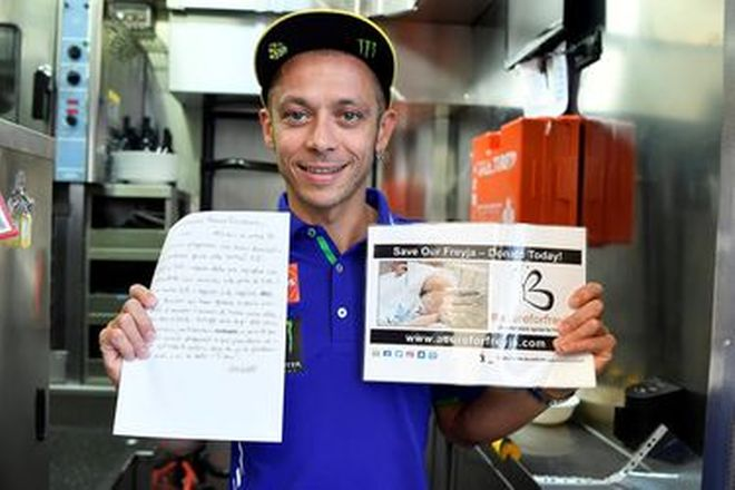 Valentino Rossi #46 Original Hand Written Love Letter to his M1