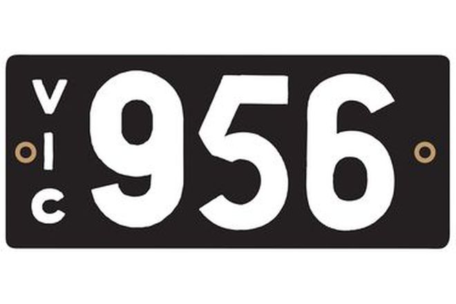 Number Plates - Victorian Numerical Number Plates '956'