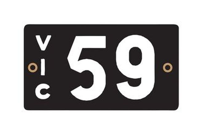 Victorian Numerical Heritage Plate '59'