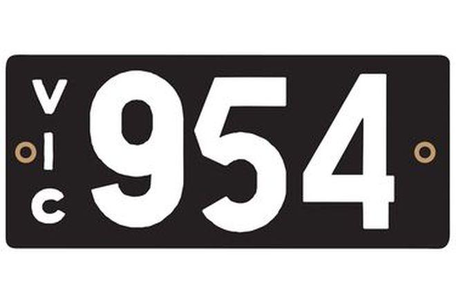 Victorian Heritage Plate '954'