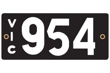 Victorian Heritage Plate '954'
