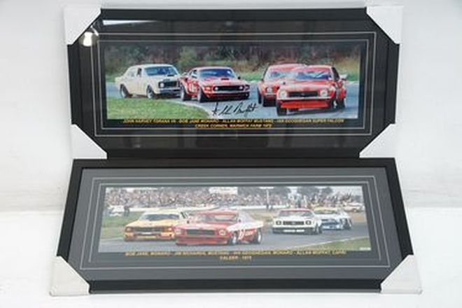 Framed Prints  - 2 x Framed & Signed Prints of Calder 1975 & Warwick Farm 1972 with certificates