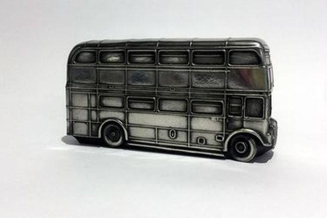 Pewter Model Car - London Bus