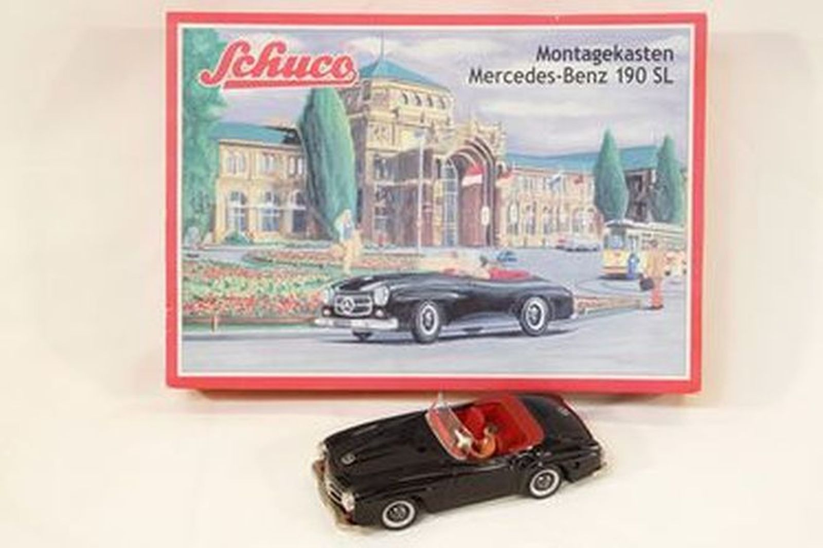 Schuco Montagekasten Mercedes-Benz 190SL (no.2097) wind-up with box and accessories
