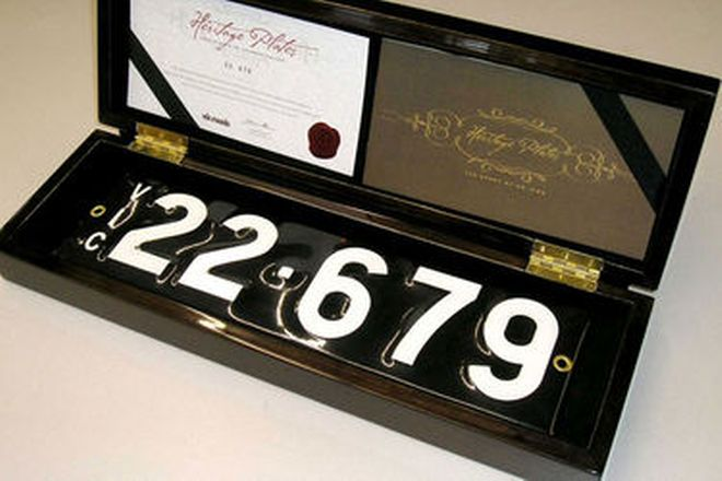 Number Plates - Victorian Numerical Number Plates - '22.679'