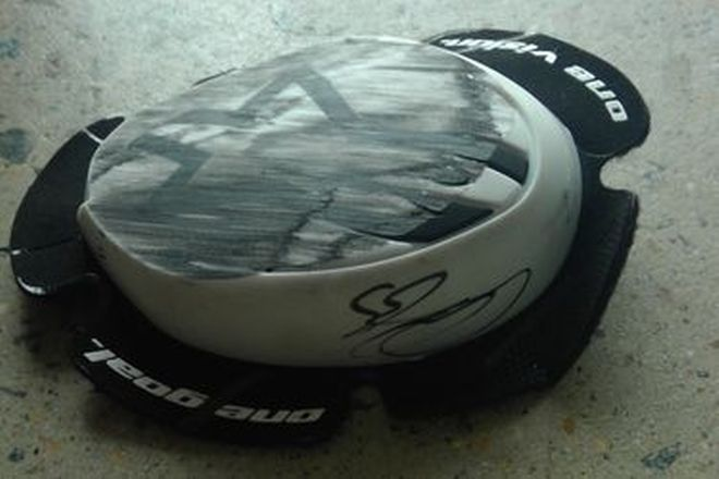 Cal Crutchlow #35 Signed Knee Slider