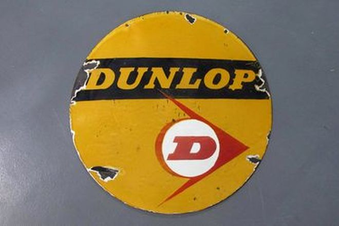 Enamel Sign - Dunlop Round Double Sided (76cm diameter)